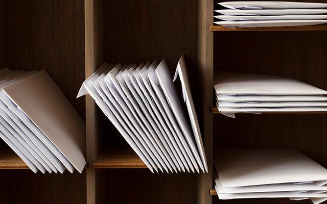 郵便物管理